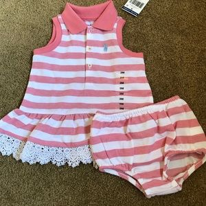 NWT Ralph Lauren 2 piece set, pink